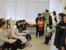 阿波人形浄瑠璃「平成座」の皆さんによる出張講座を実施しました