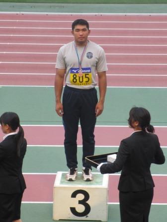 陸上競技部の学生が日本学生個人選手権大会で入賞しました