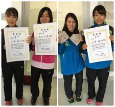 四国学生選抜インドアソフトテニス選手権大会で女子ソフトテニス部山本・森口ペアが優勝しました