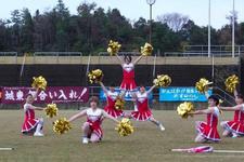 チアリーディング部が全国高等学校ラグビーフットボール大会徳島県大会でチアダンスを披露しました