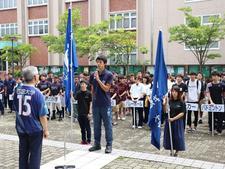 「第69回四国地区大学総合体育大会(香川大会)四国大学選手団結団式」を行いました
