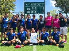 女子7人制ラグビー部の5名が「国民体育大会第39回四国ブロック大会」の徳島県代表に選出され、優勝をおさめました