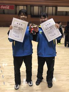 女子ソフトテニス部が「第34回四国学生選抜インドアソフトテニス大会」でベスト3を独占しました
