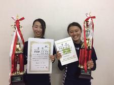 女子ソフトテニス部が「西日本学生選手権大会」で個人準優勝しました