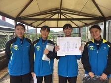 女子ソフトテニス部が「第65回中国・四国学生ソフトテニス選手権大会」団体戦・個人戦で優勝しました