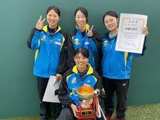 女子ソフトテニス部が「中国・四国・九州三地区学生ソフトテニス選手権大会」の団体戦・個人戦で優勝しました