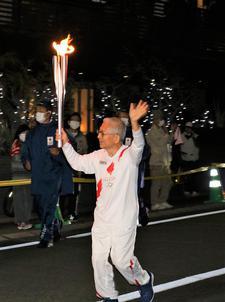 松重和美学長が東京2020オリンピック聖火リレーのランナーを務めました